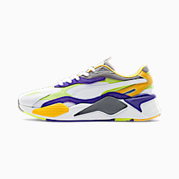 RS-X³ Level Up Trainers, Puma White-Limepunch, small