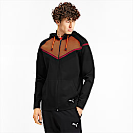 Reactive evoKNIT Men's Jacket, Puma Black-Rhubarb, small
