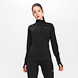 Ignite Long Sleeve Women's Running Pullover, Puma Black, small