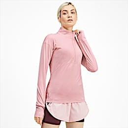 Ignite Long Sleeve Women's Running Pullover, Bridal Rose, small