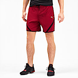 "Get Fast 7"" Woven Men's Running Shorts, Rhubarb-Puma Black, small"