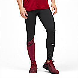GetFast Thermo-R+ Men's Running Tights, Puma Black-Rhubarb, small