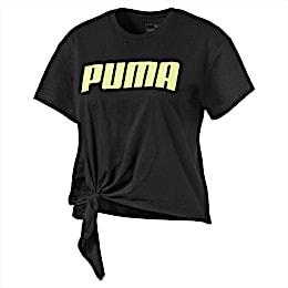 T-Shirt avec nœud pour fille, Puma Black, small