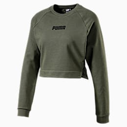 PUMA x PAMELA REIF Lace-Up Damen Kurzes Sweatshirt, Four Leaf Clover, small