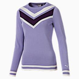 Sweatshirt de golf Chevron pour femme, Sweet Lavender, small