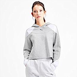Evostripe Long Sleeve Women's Hoodie, Light Gray Heather, small