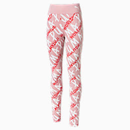 Alpha Girls' Leggings, Bridal Rose, small