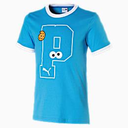 Sesamstraße Graphic Jungen T-Shirt, Bleu Azur, small