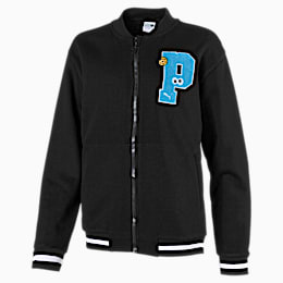 Sesame Street Girls' Bomber Jacket, Puma Black, small