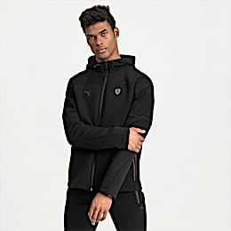 Ferrari Hooded Men's Sweat Jacket, Puma Black, small