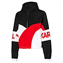 PUMA x KARL LAGERFELD XTG Damen Half Zip Sweatshirt mit Kapuze