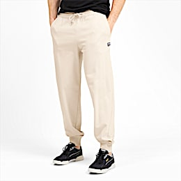 Downtown Knitted Men's Sweatpants, White Smoke, small