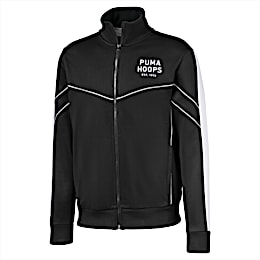 Hoops Since 73 Men's Track Jacket, Puma Black-Puma White, small
