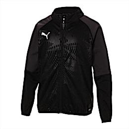 キッズ カップ ジュニア トレーニング ジャケット コア, Puma Black-Asphalt, small-JPN