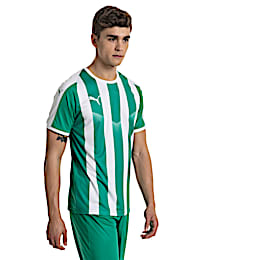Liga Men's Striped Football Jersey, Pepper Green-Puma White, small