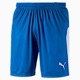 LIGA Men's Shorts, Electric Blue Lemonade-White, small