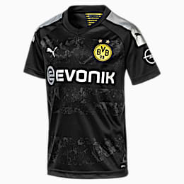BVB Boys' Away Replica Jersey, Puma Black, small