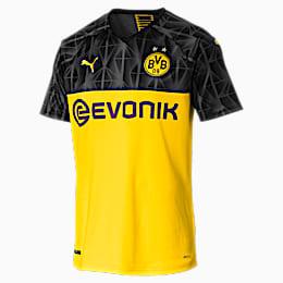 BVB Men's Cup Replica Jersey, Cyber Yellow-Puma Black, small