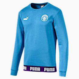 Man City Men's Football Culture Sweater, Team Light Blue-Puma White, small