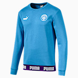 Manchester City Football Culture Herren Sweatshirt, Team Light Blue-Puma White, small