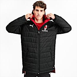 AC Milan Bench Herren Replica Wendejacke, Puma Black-Tango Red, small