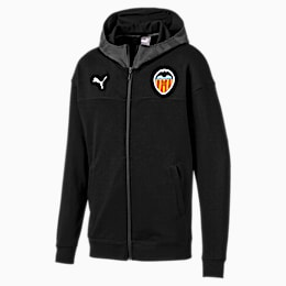 Valencia CF CUP Casuals Herren Fußball Kapuzenjacke, Puma Black, small