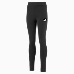 Essentials Girls' Leggings, Cotton Black, small