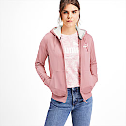 Essentials Sherpa Hooded Women's Jacket, Bridal Rose, small