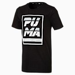 Alpha Graphic Jungen T-Shirt, Cotton Black, small