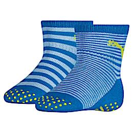 Baby Anti-Rutsch Socken 2er Pack, blue green combo, small