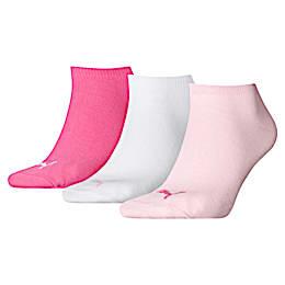 Lot de trois paires de chaussettes pour basket, pink lady, small