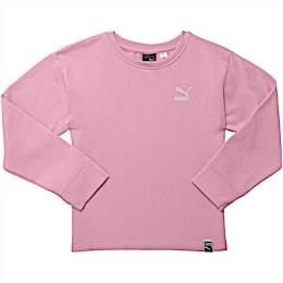 Little Kids' Oversized Fleece Pullover, PALE PINK, small