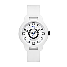 Reset Silicone V1 Men's Watch, White/White, small