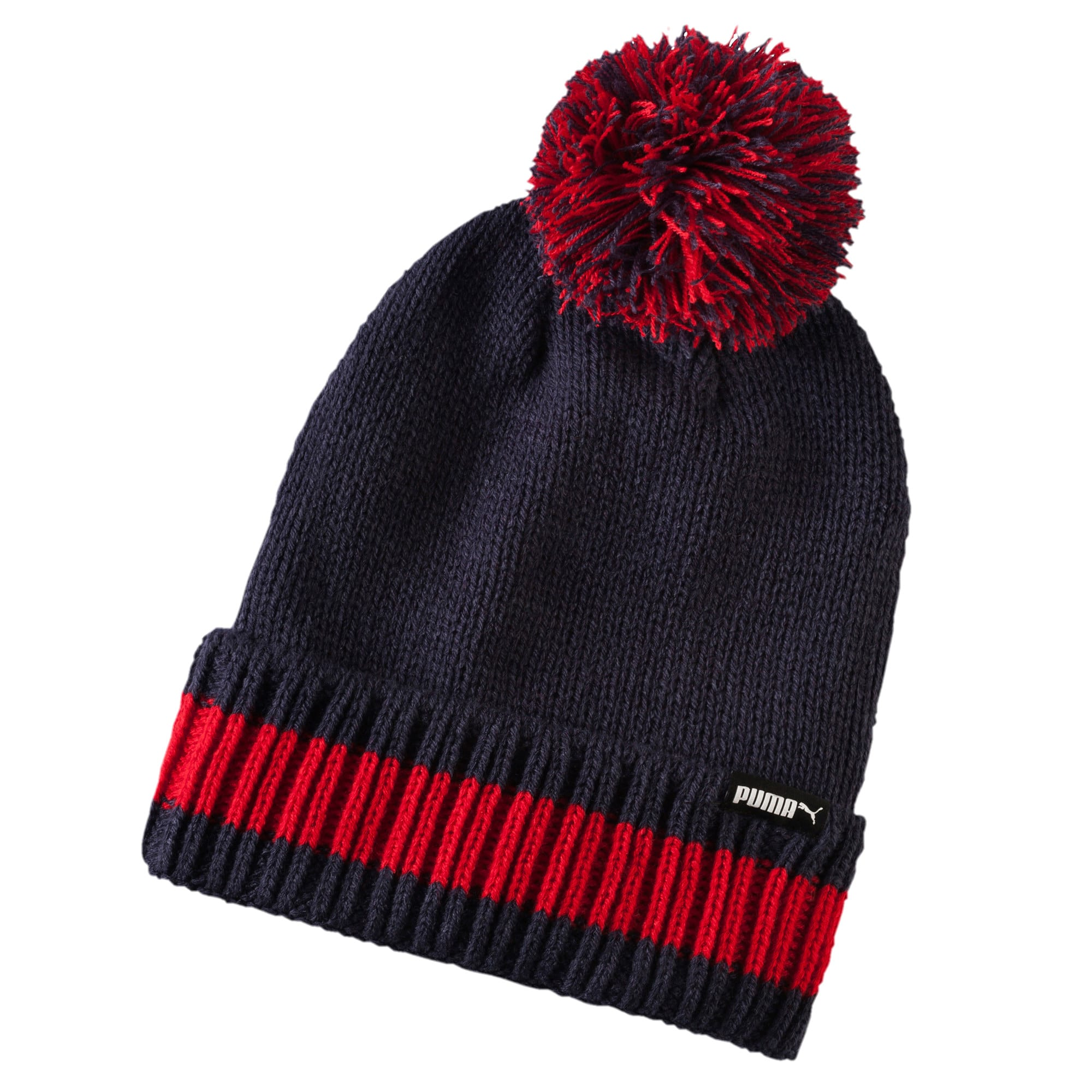 Thumbnail 2 of LS Phoenix Knit hat, Peacoat-Barbados Cherry, medium-IND