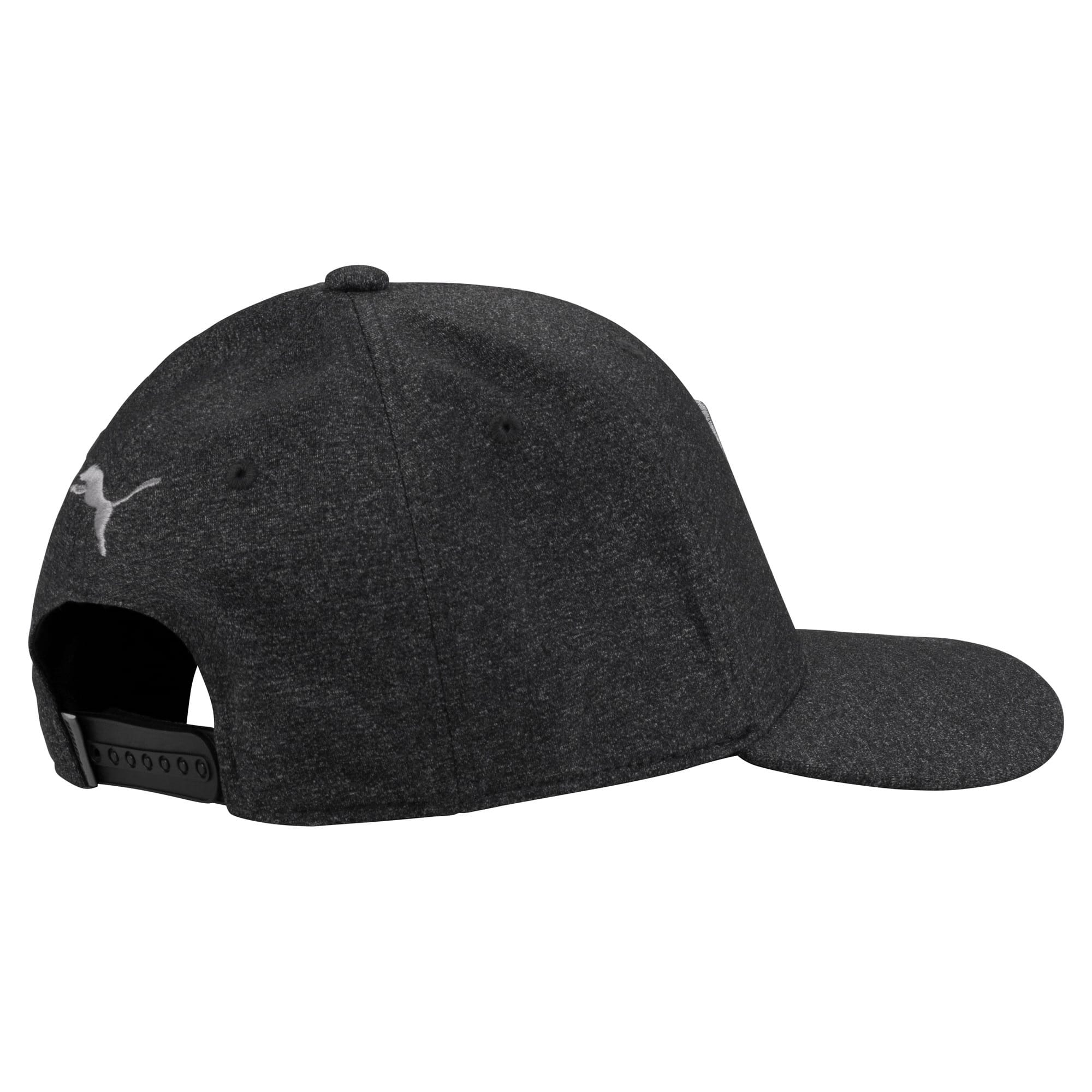 Thumbnail 2 of Golf Men's P Snapback Cap, Puma Black Heather, medium