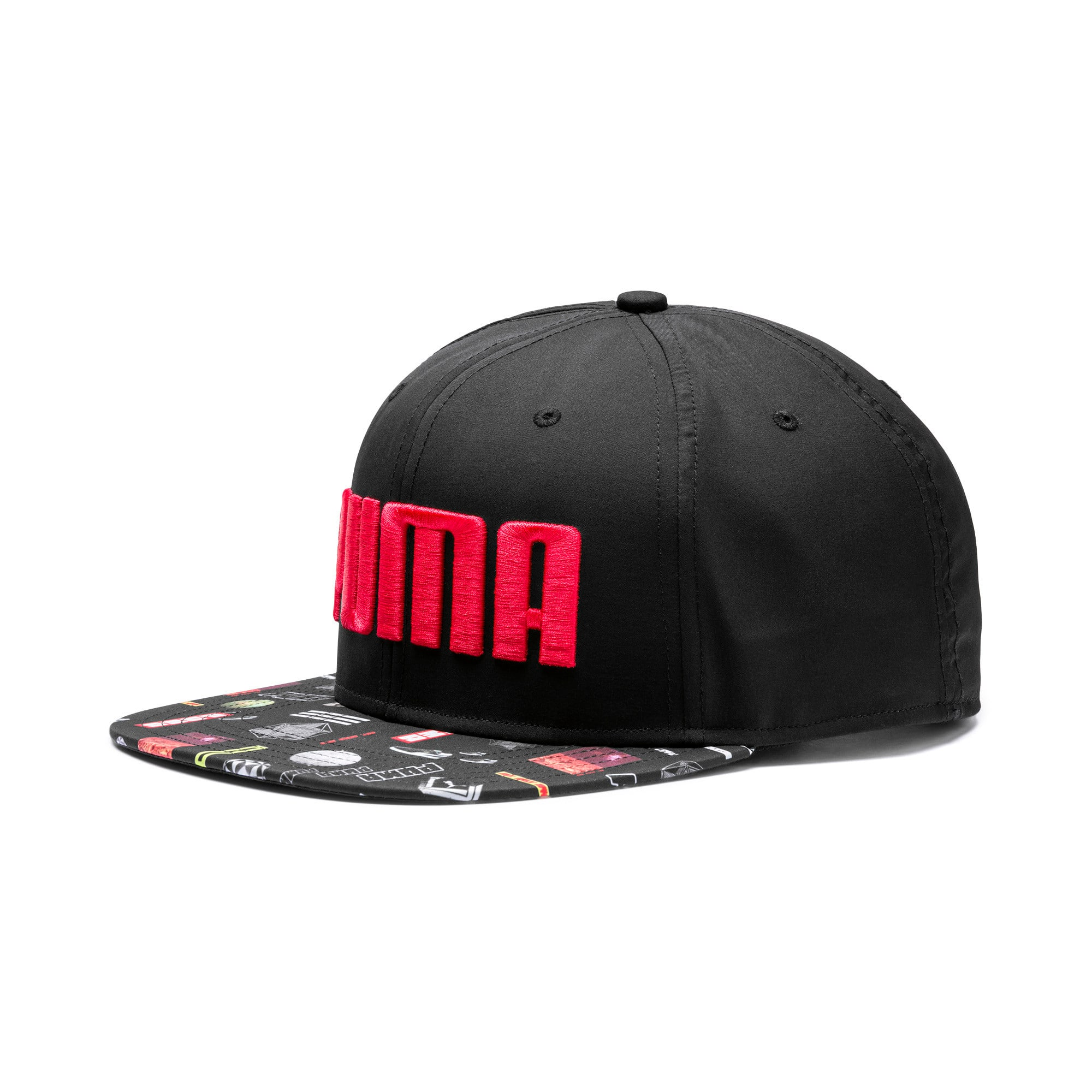 Thumbnail 1 of Flatbrim Cap, Puma Black-Graphic, medium