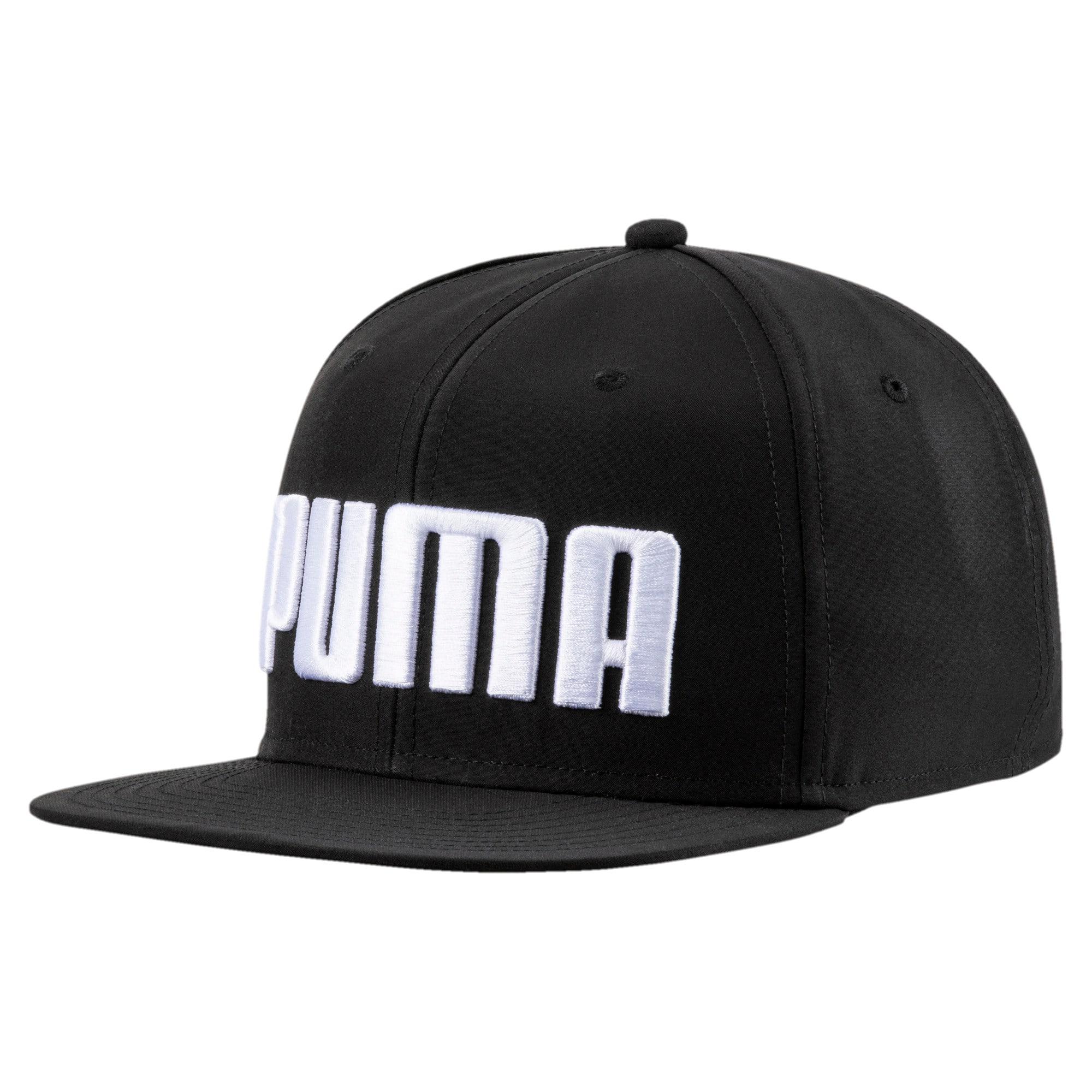 Thumbnail 1 of Flat Brim Kids' Cap, Puma Black, medium-IND