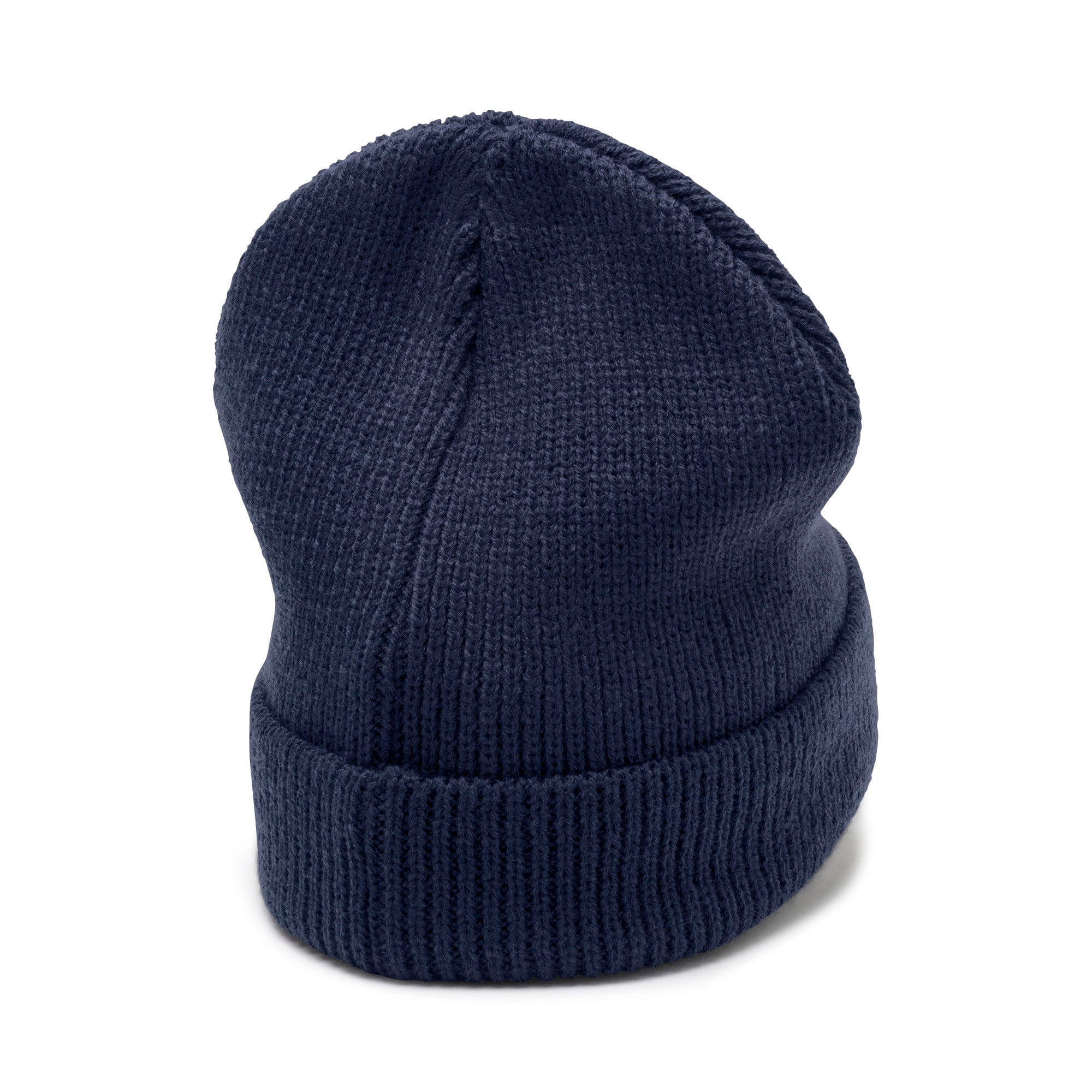 Thumbnail 2 of Classic Ribbed Beanie, Peacoat, medium