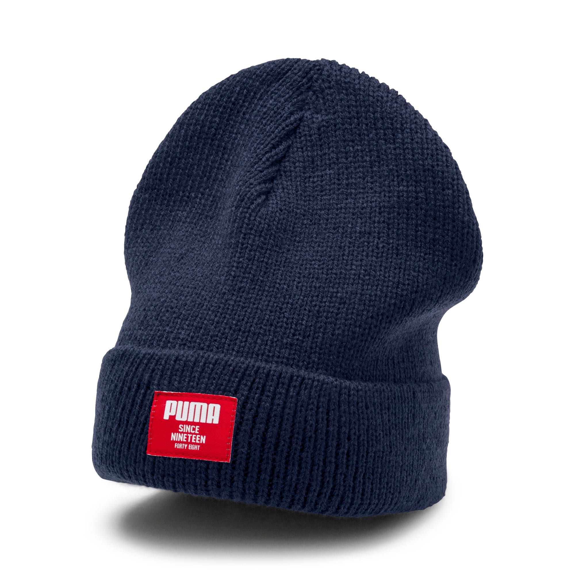 Thumbnail 1 of Classic Ribbed Beanie, Peacoat, medium