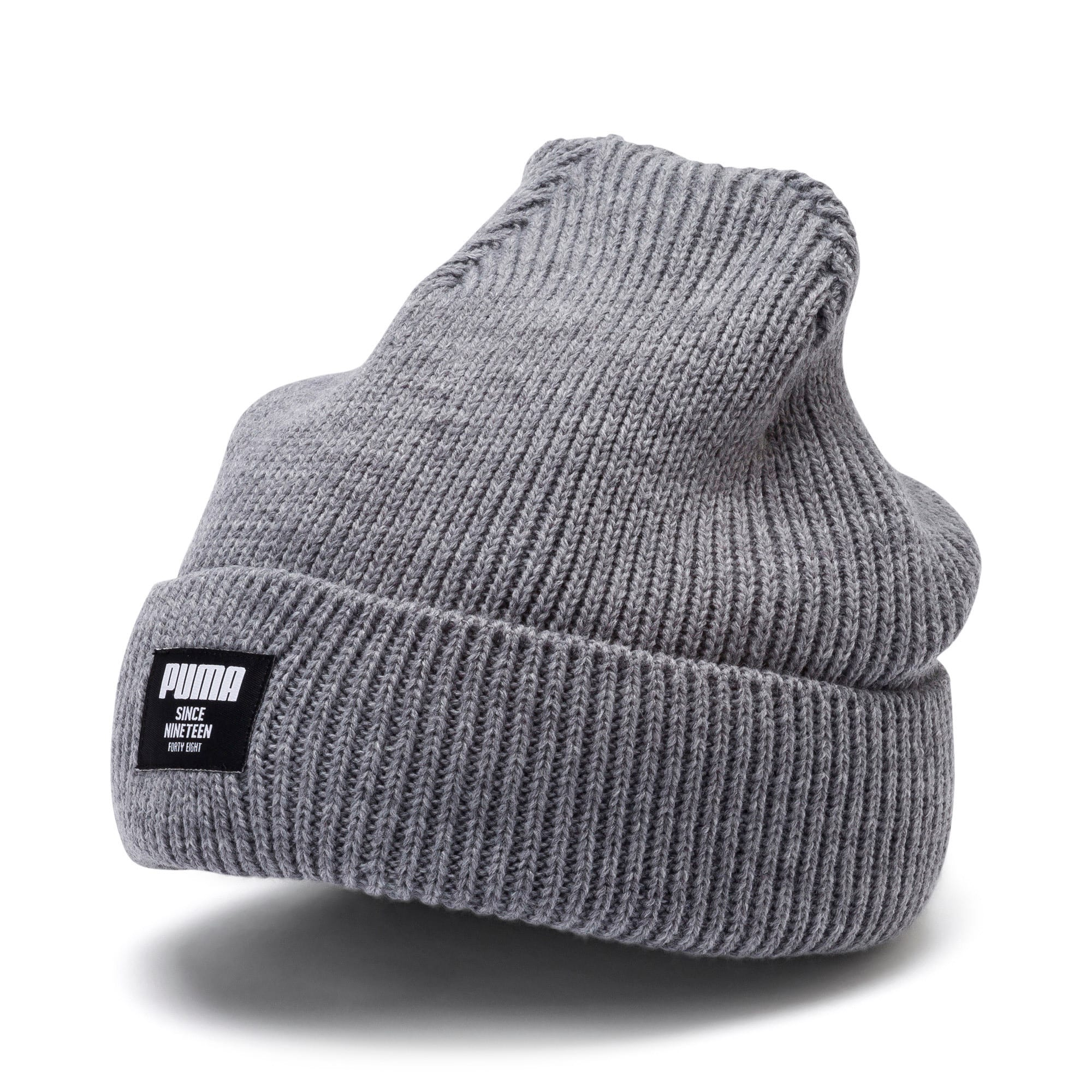 Classic Ribbed Beanie, Medium Gray Heather, large