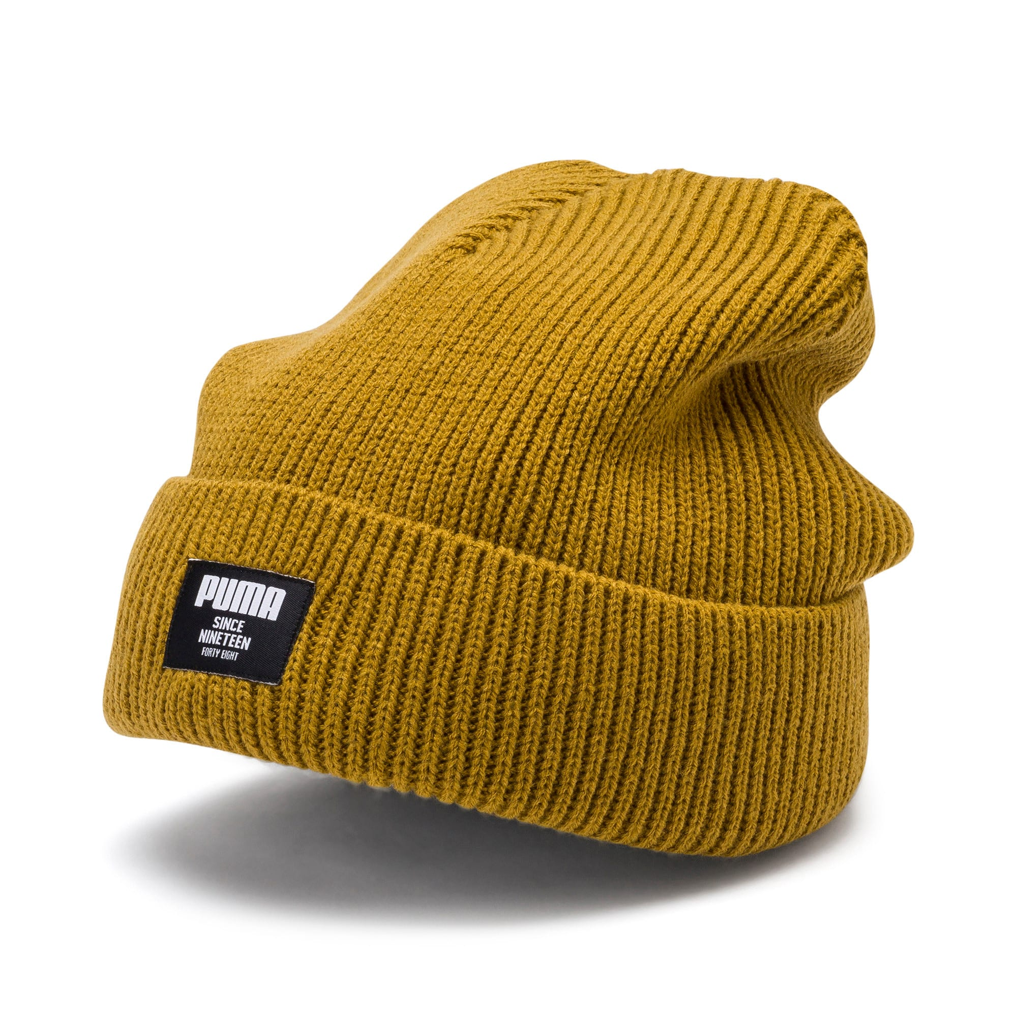 Thumbnail 1 of Classic Ribbed Beanie, Moss Green, medium