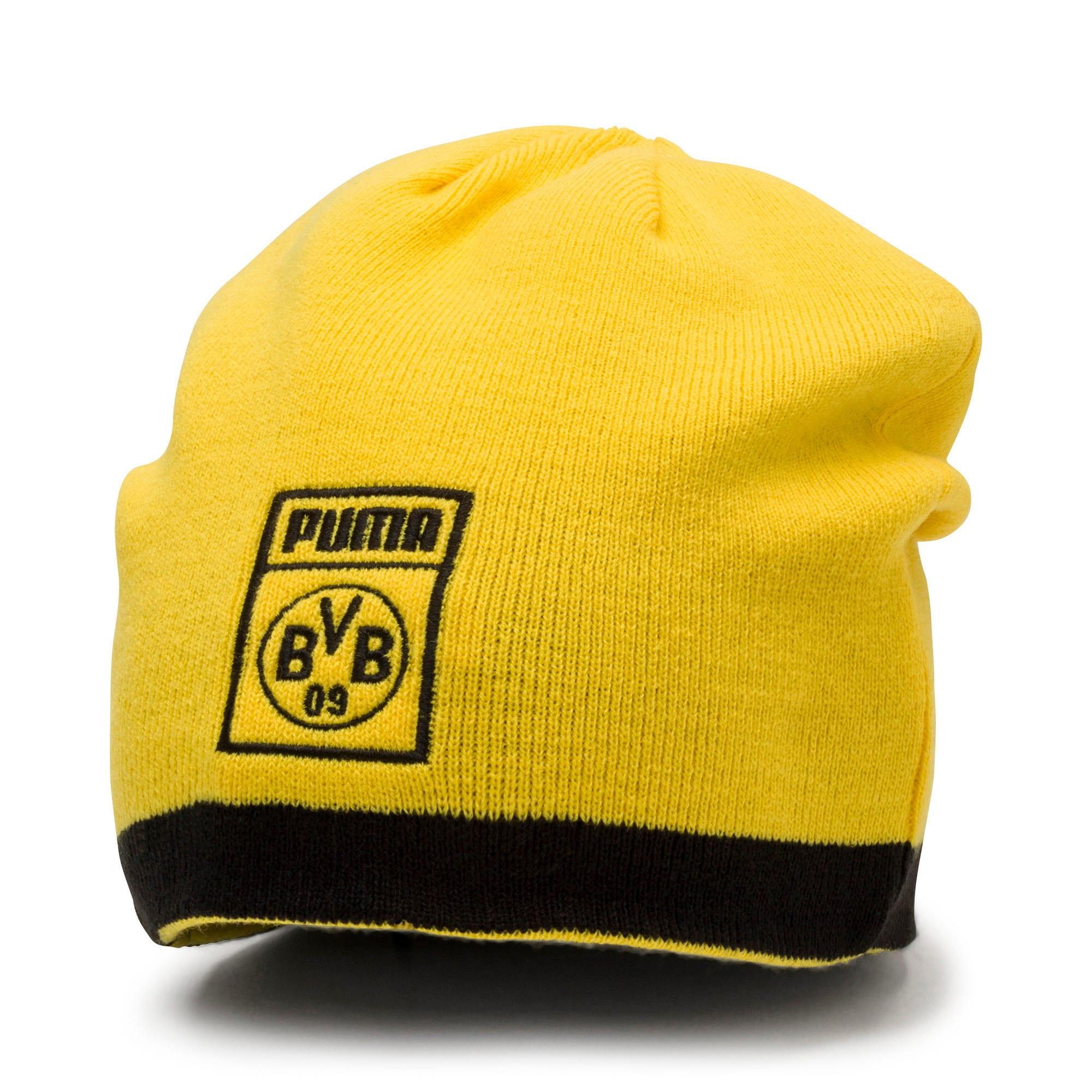 Thumbnail 1 of BVB Reversible Beanie, Puma Black-Cyber Yellow, medium