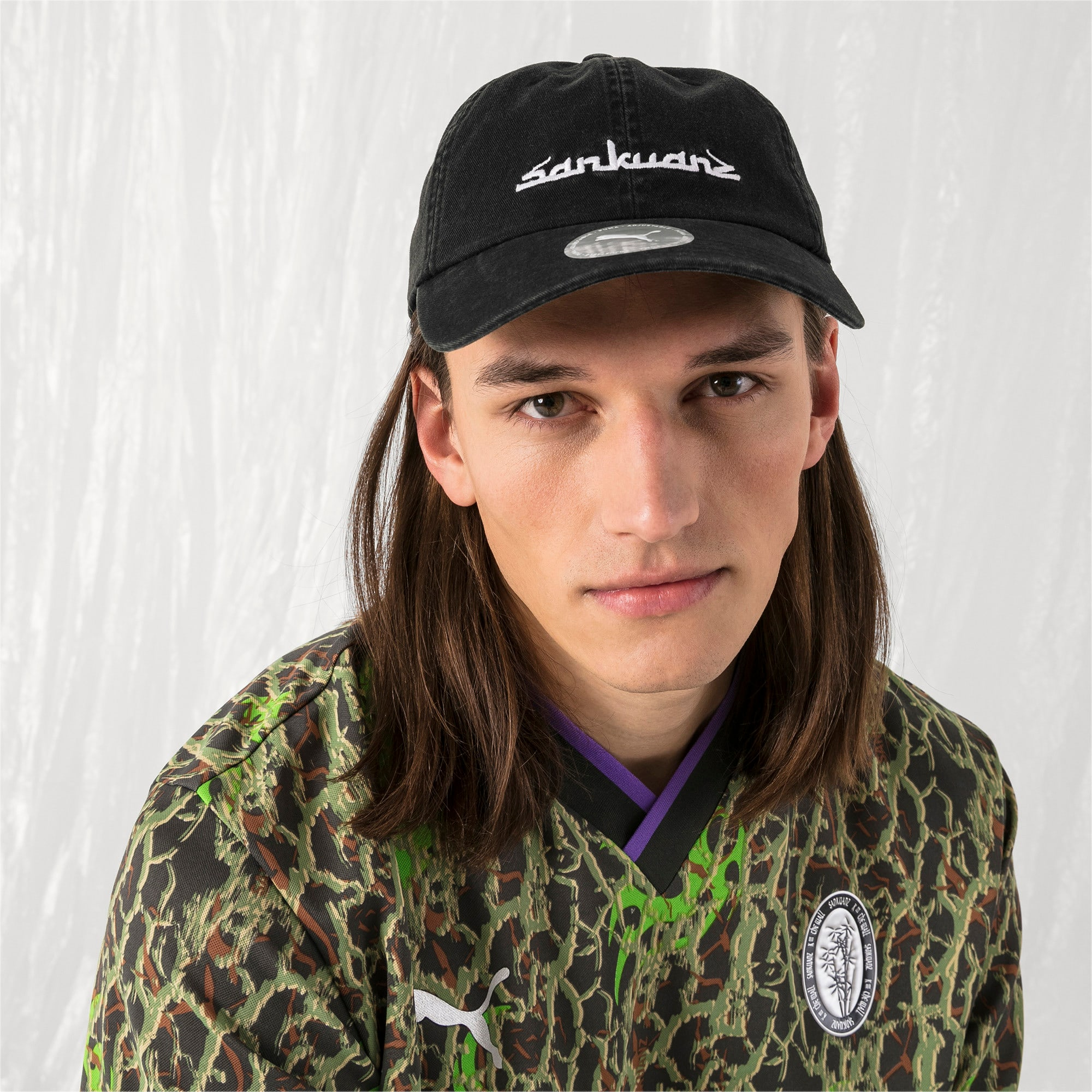 Thumbnail 3 of PUMA x SANKUANZ Baseball Cap, Puma Black, medium