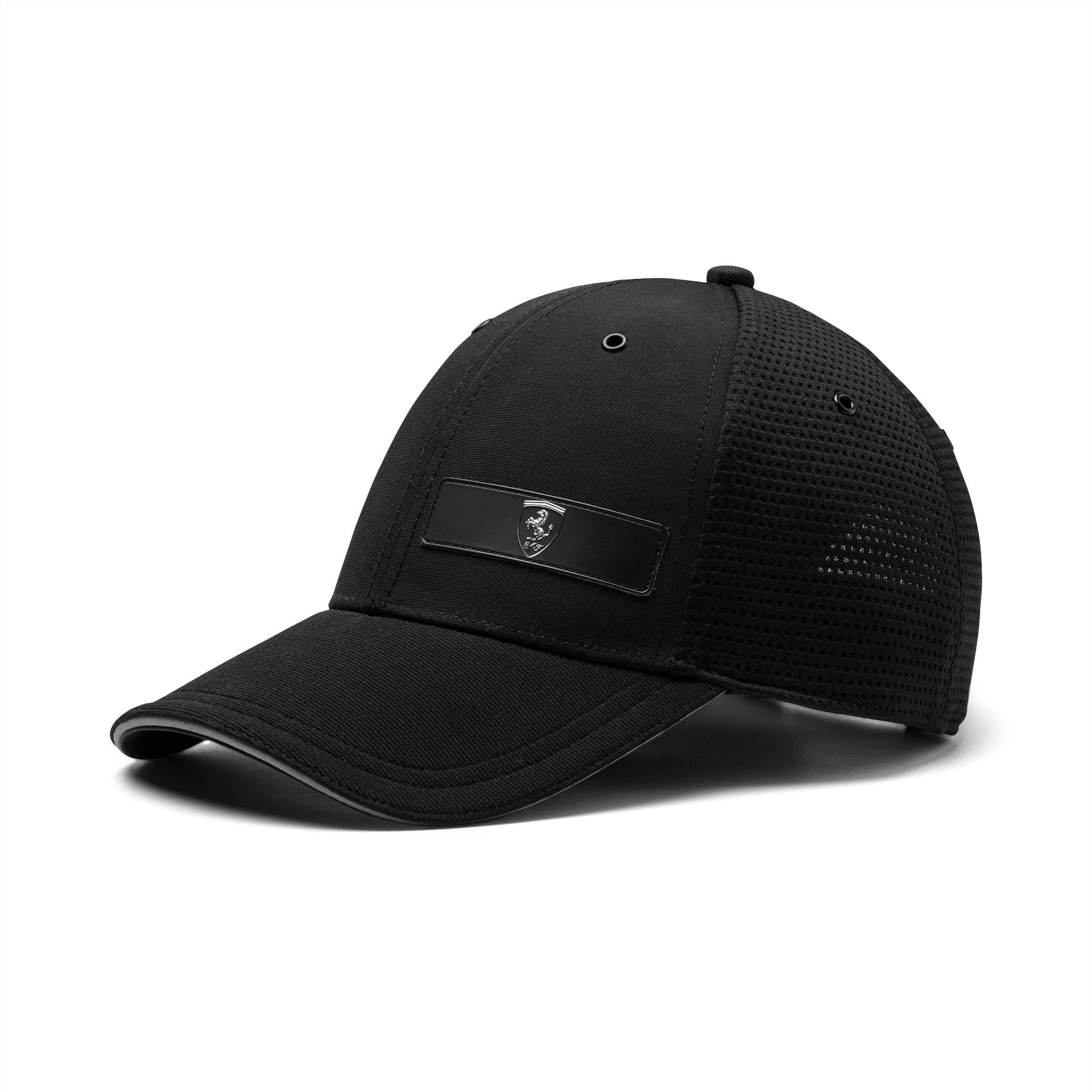 Ferrari Lifestyle Stretchfit Baseball Cap, Puma Black, large-SEA