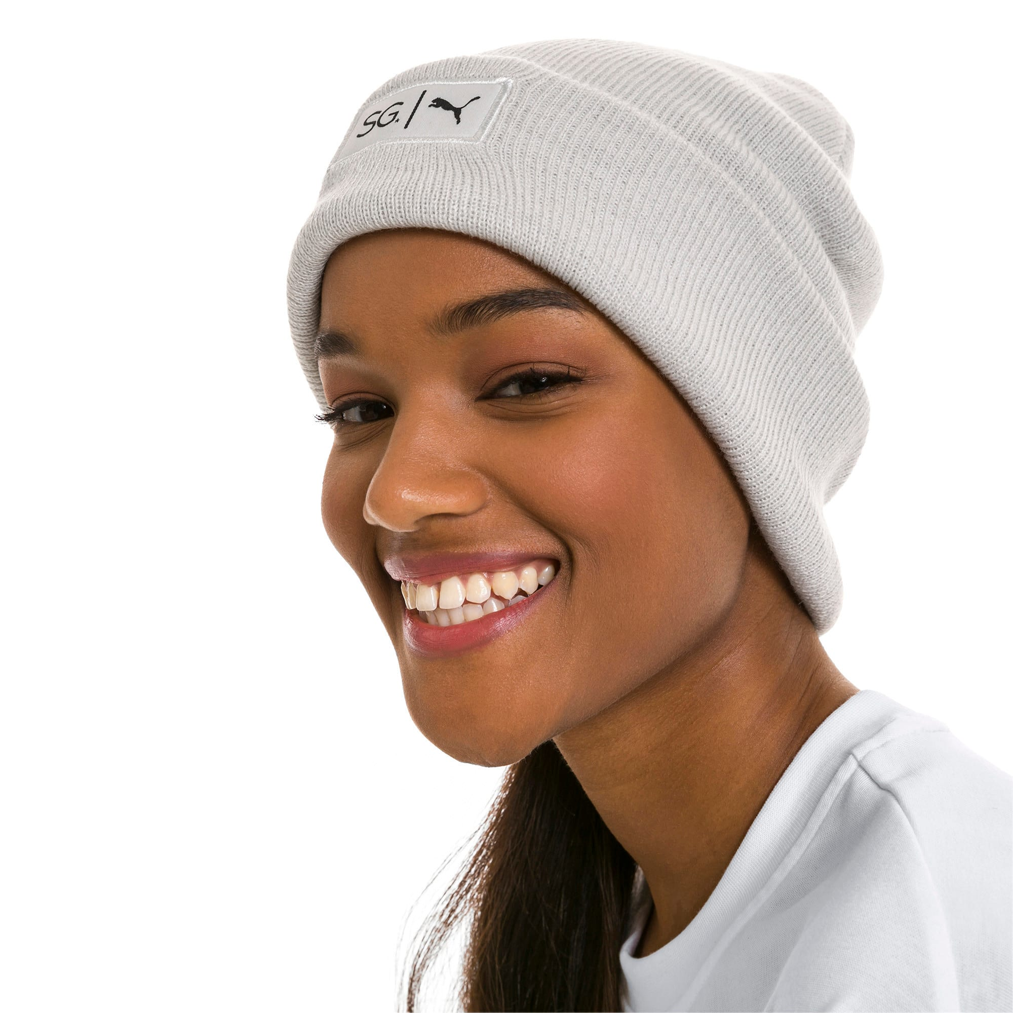 Thumbnail 3 of PUMA x SELENA GOMEZ Women's Beanie, Glacier Gray, medium-IND