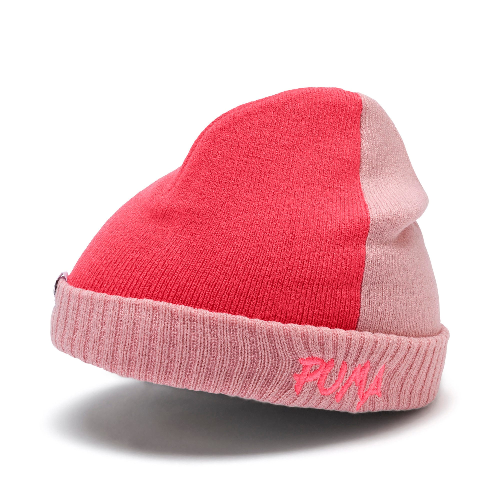 Thumbnail 1 of Minicats Kids' Beanie, Bridal Rose-Calypso Coral, medium