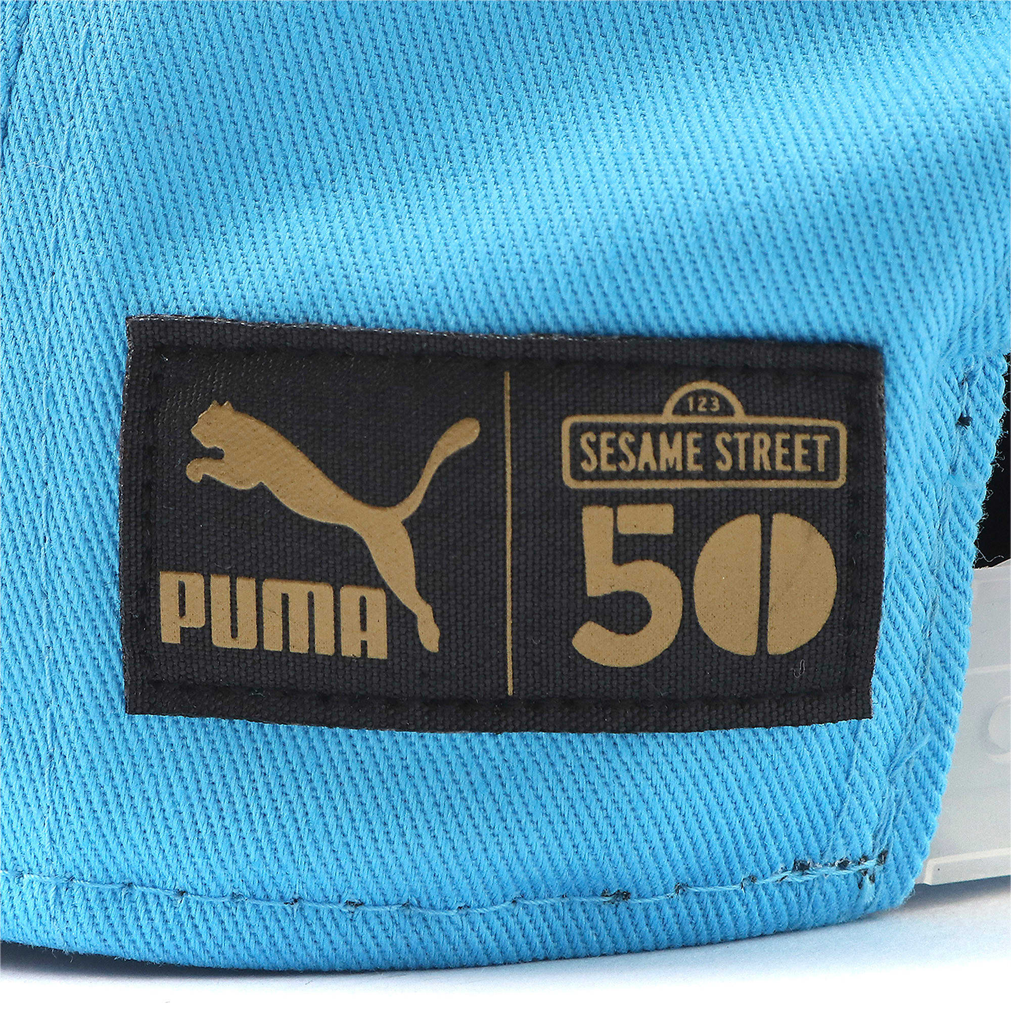 Thumbnail 3 of キッズ セサミストリート FB キャップ, Puma Black-Bleu Azur, medium-JPN