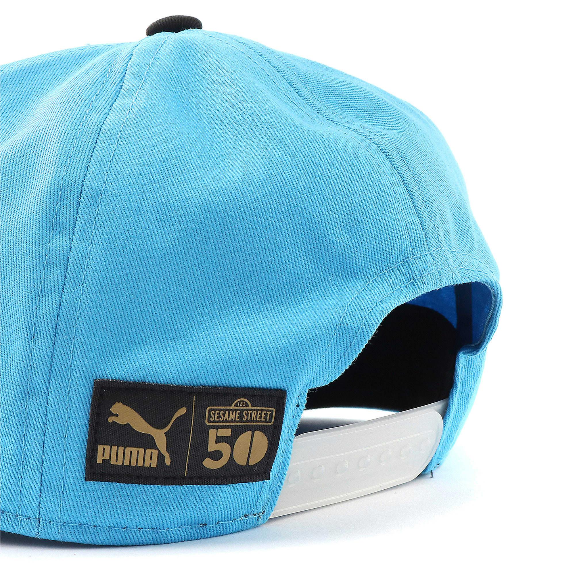 Thumbnail 4 of キッズ セサミストリート FB キャップ, Puma Black-Bleu Azur, medium-JPN