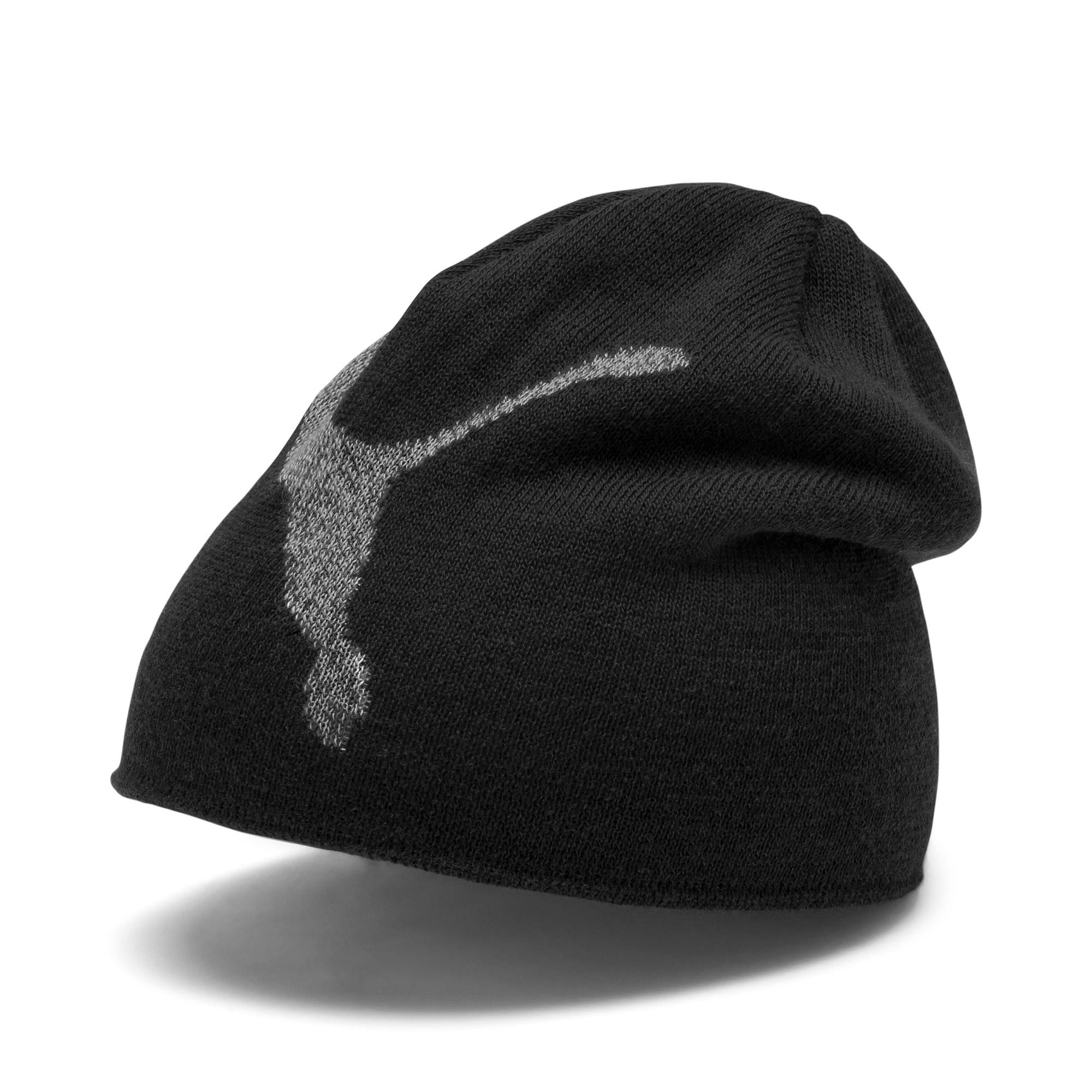 Thumbnail 1 of Essentials Logo Kids' Beanie, Puma Black-Big Cat, medium-IND