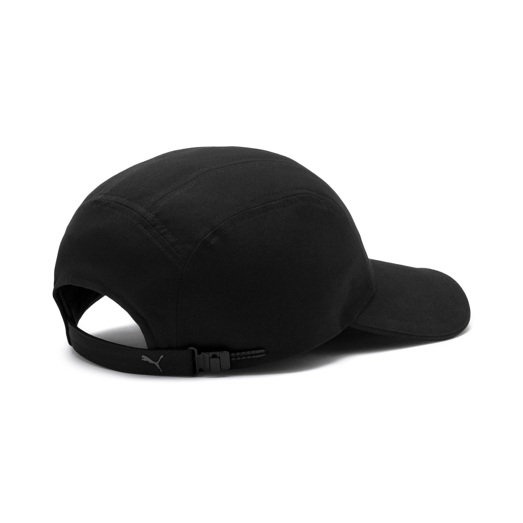 Thumbnail 3 of Curved Five Panel Cap, Puma Black, medium-IND
